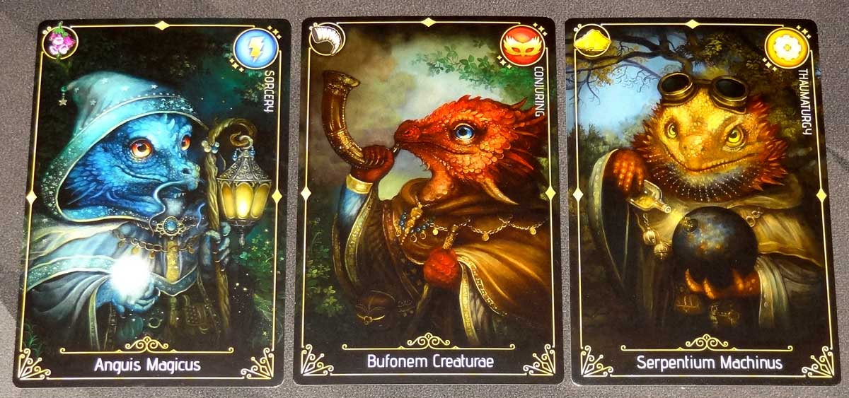 Lizard Wizard wizard cards