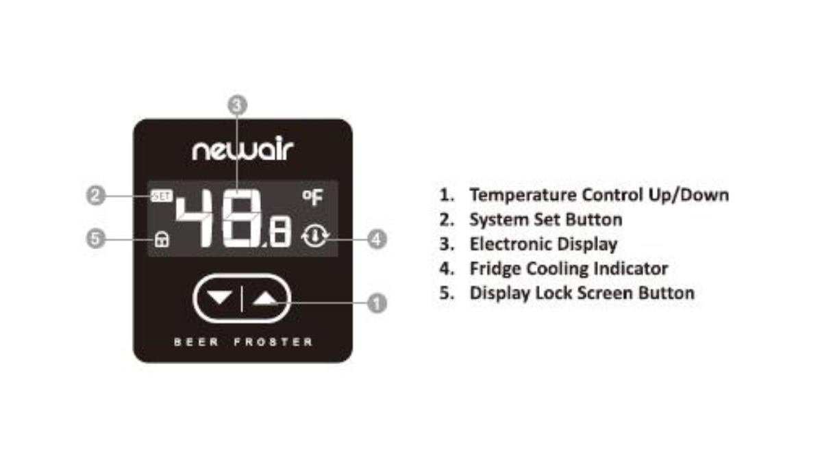newair froster 46 control panel