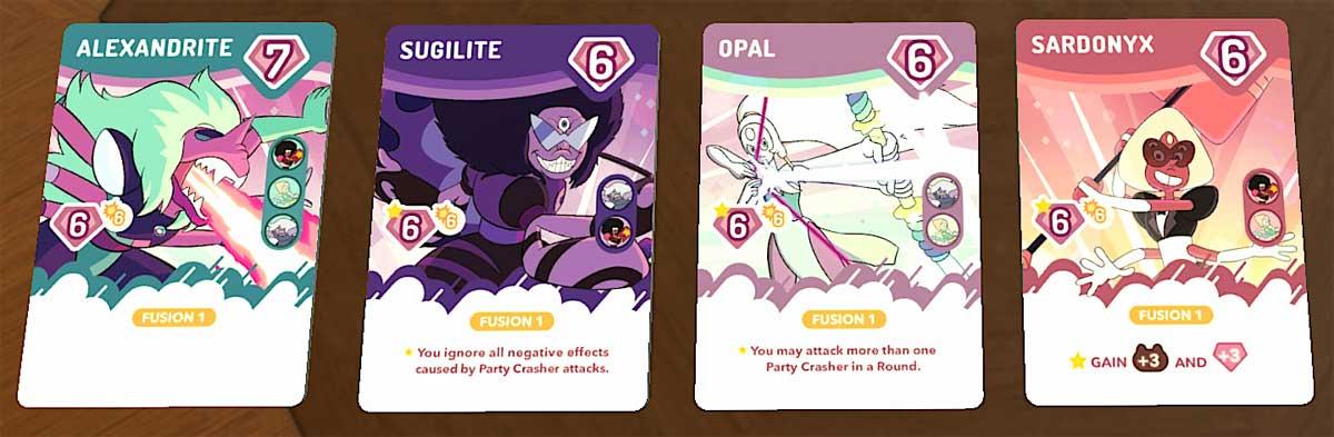 Steven Universe: Beach-a-Palooza fusion cards
