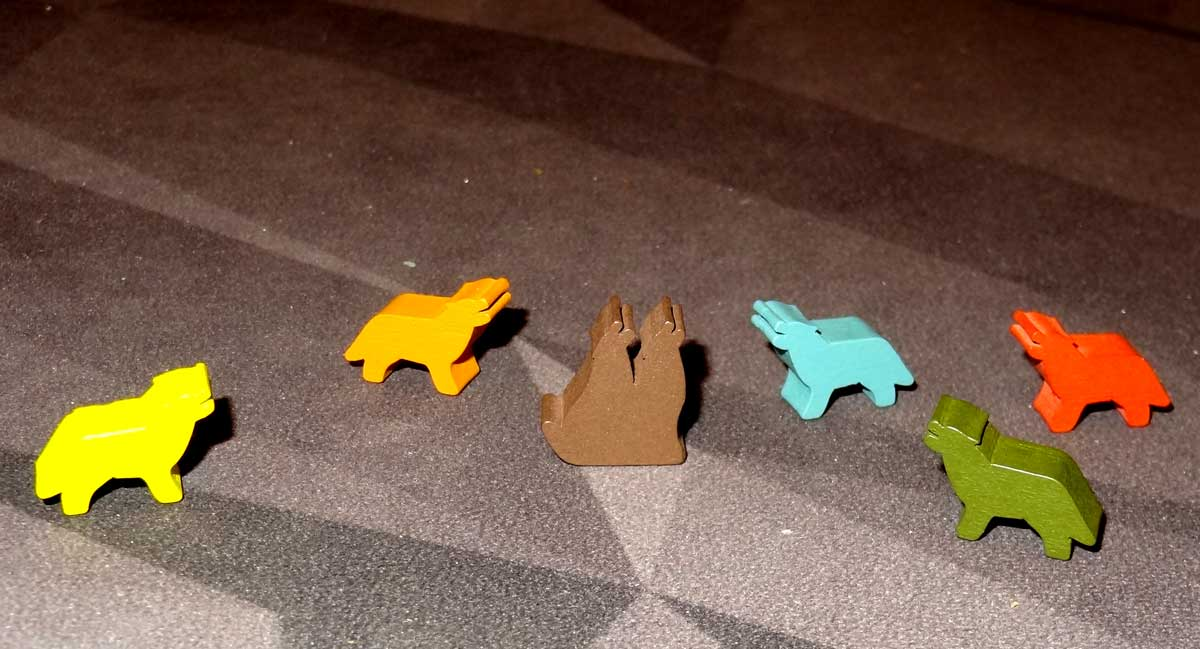 The Alpha wolf meeples