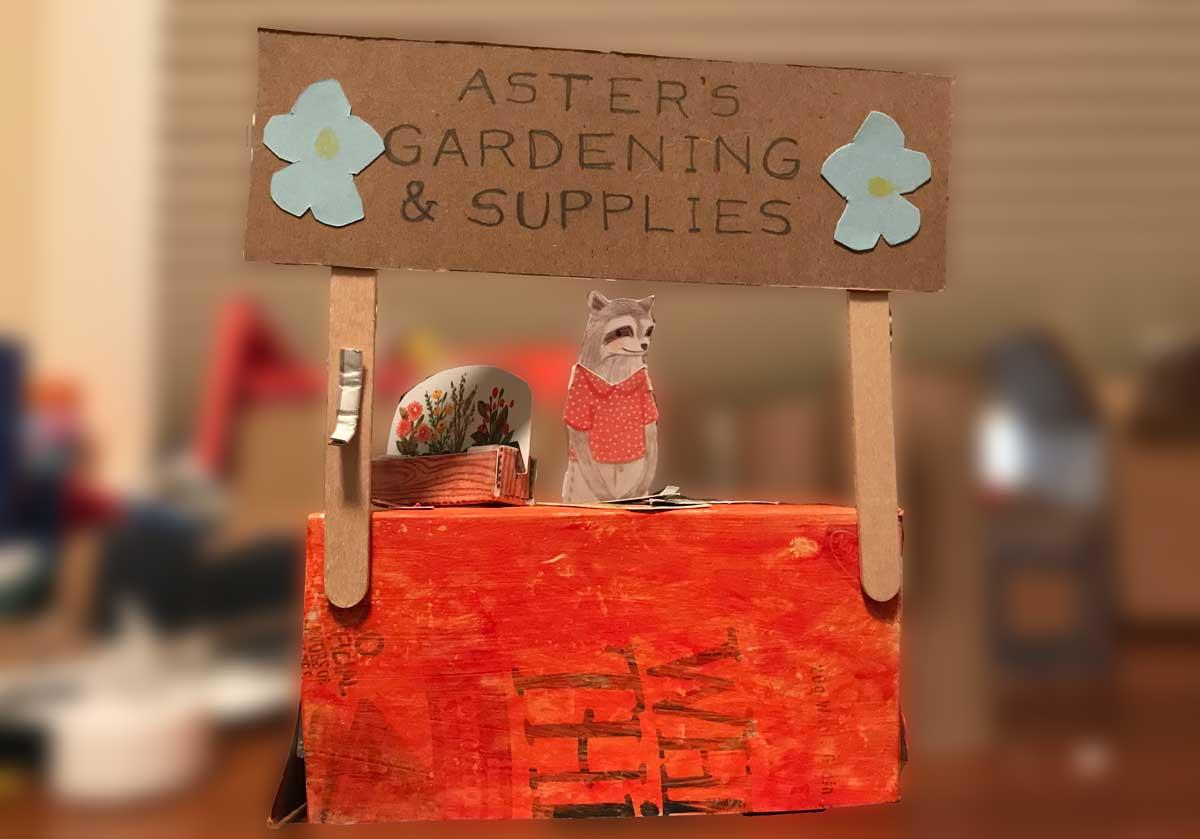 Aster's Gardening & Supplies booth