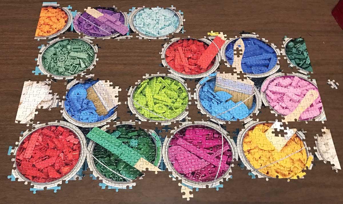 LEGO Paint Party puzzle assembling puzzle
