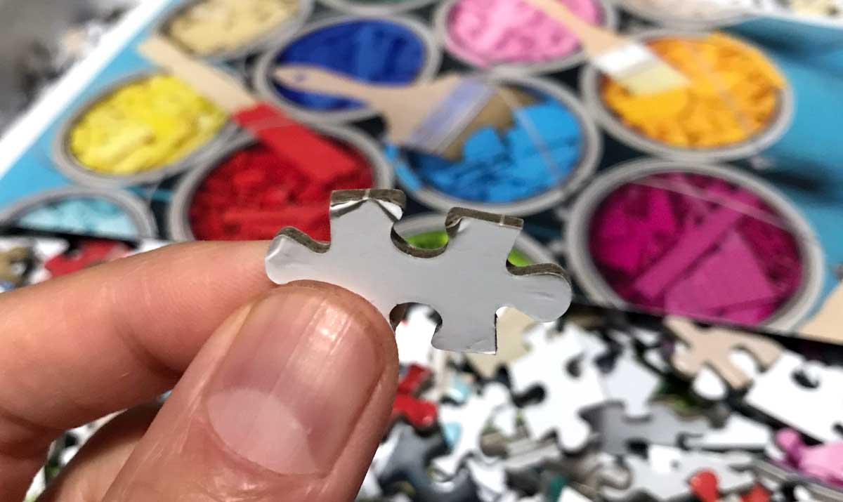 LEGO Paint Party puzzle piece close-up