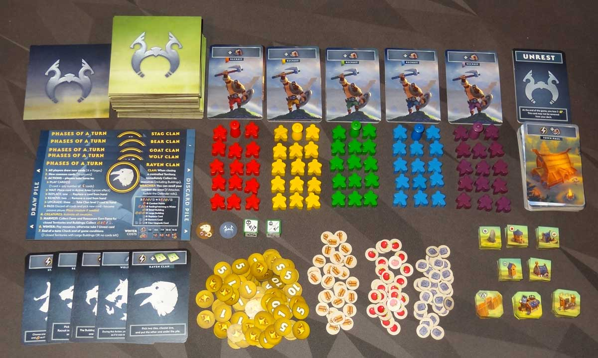 Northgard: Uncharted Lands components