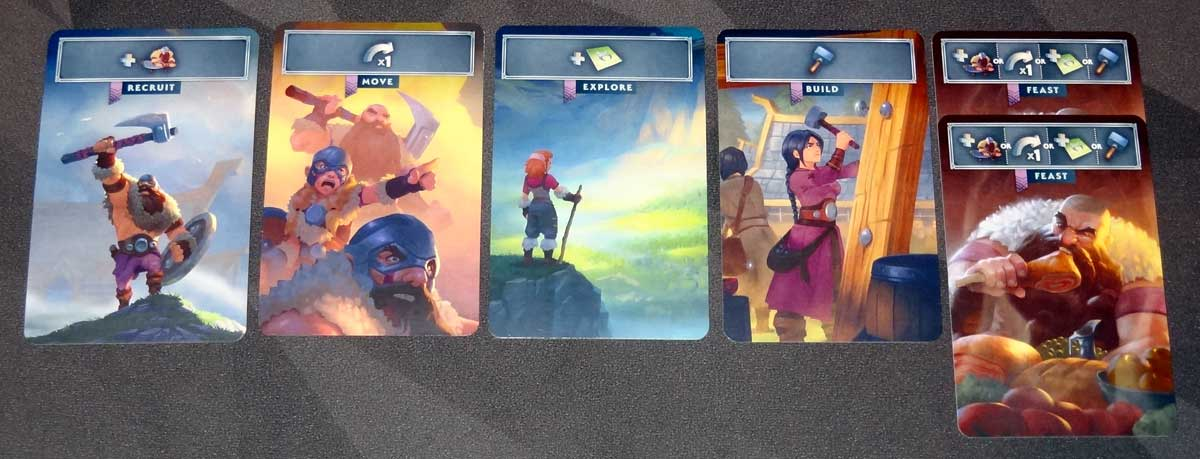 Northgard: Uncharted Lands starting cards