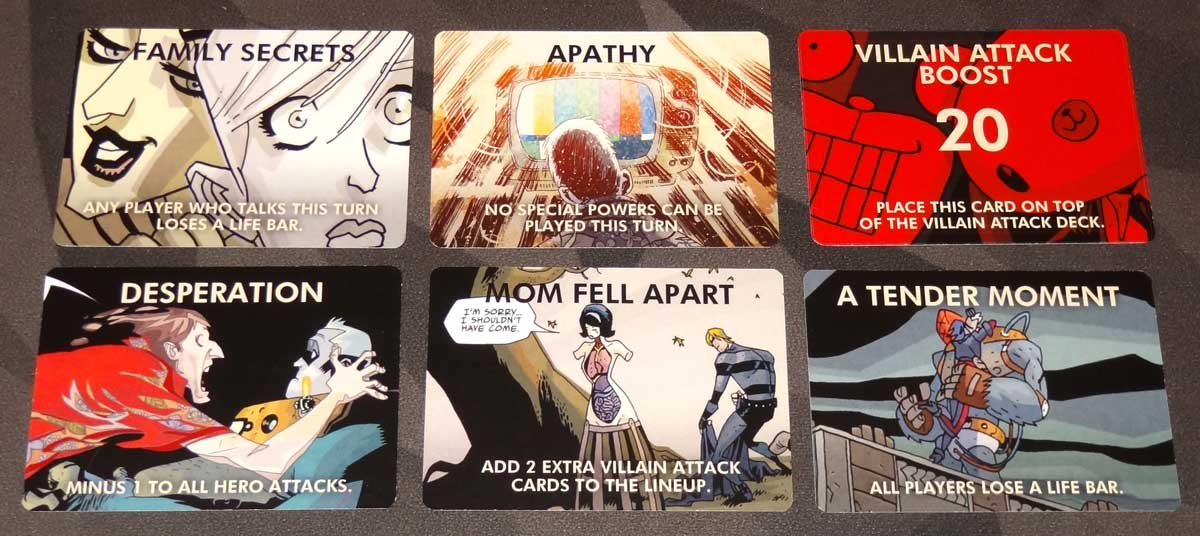 The Umbrella Academy Card Game dysfunctional family cards