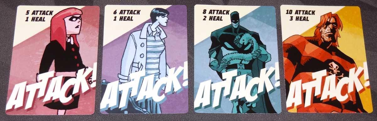 The Umbrella Academy Card Game hero attack cards