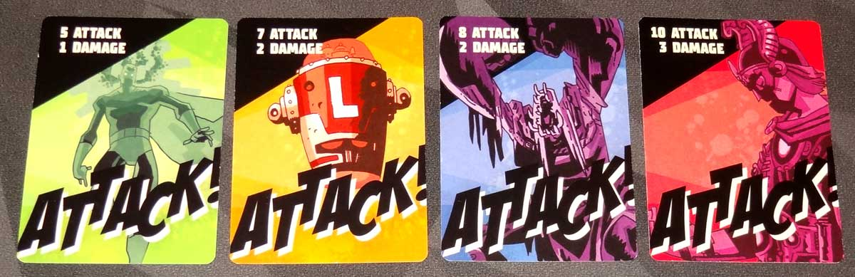 The Umbrella Academy Card Game villain attack cards