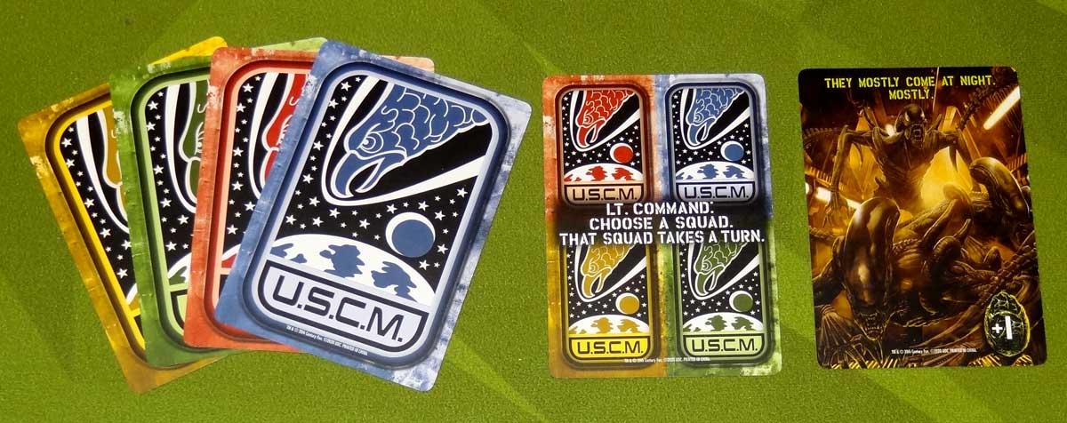 Aliens: Bug Hunt phase cards