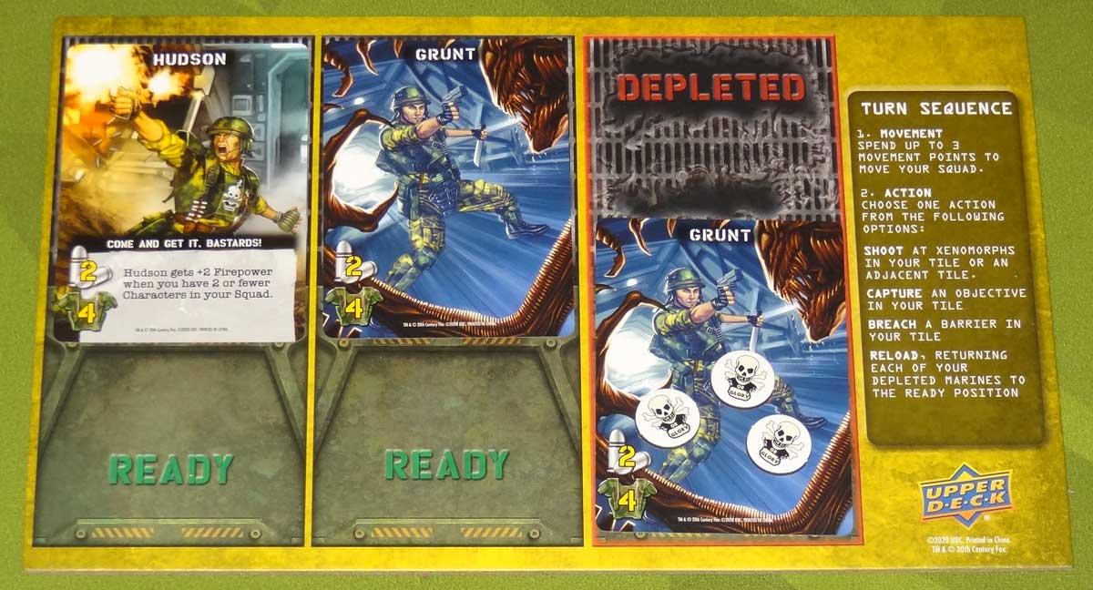 Aliens: Bug Hunt player board