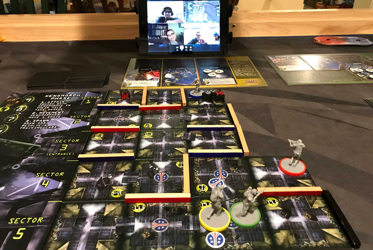 playing Aliens: Bug Hunt over videochat