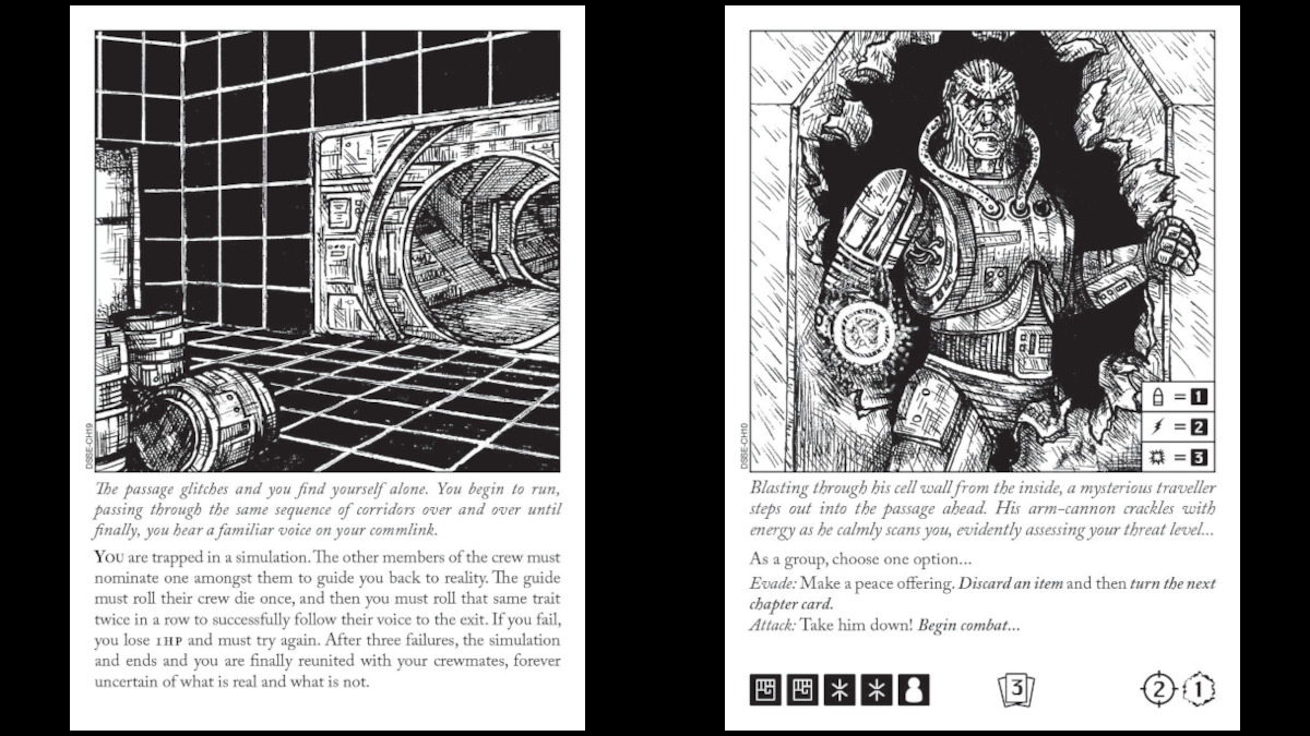 Escape the Dark Sector Chapter Cards Simulation and Traveller