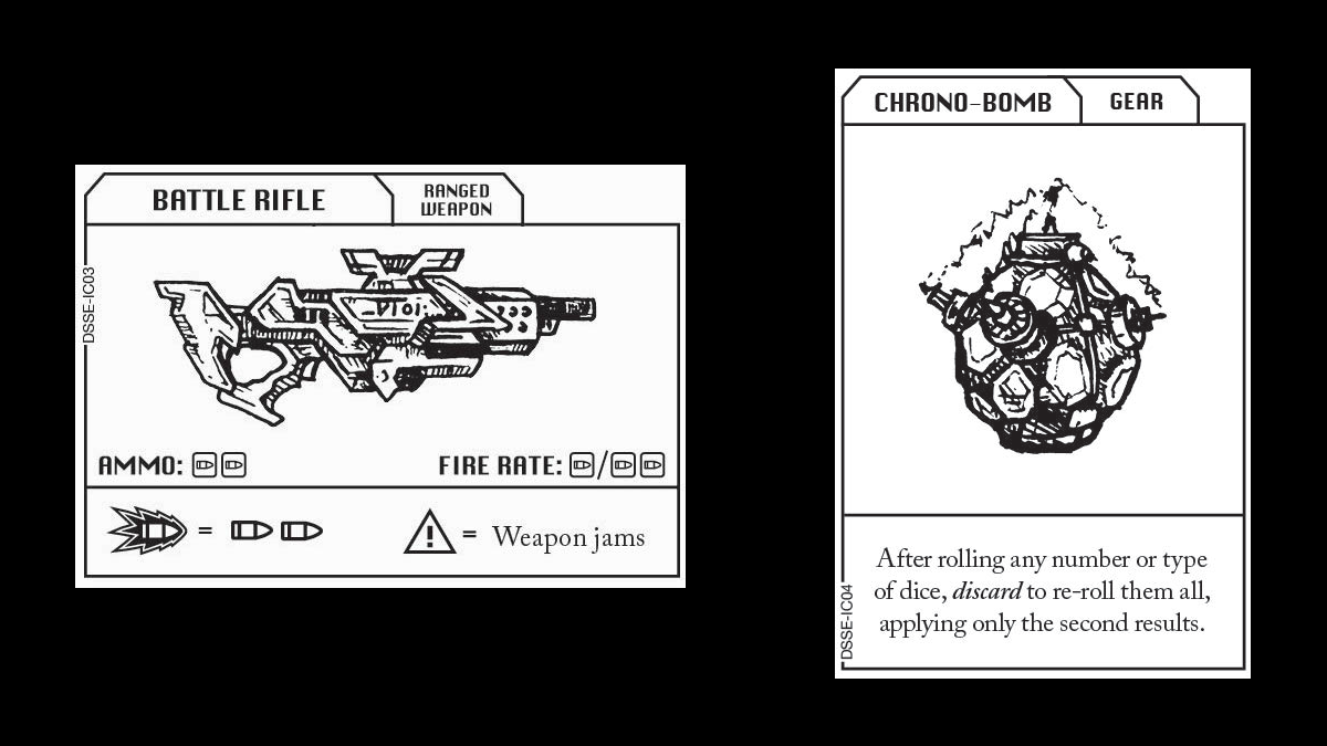 Escape the Dark Sector Item Cards Battle Rifle and Chrono Bomb