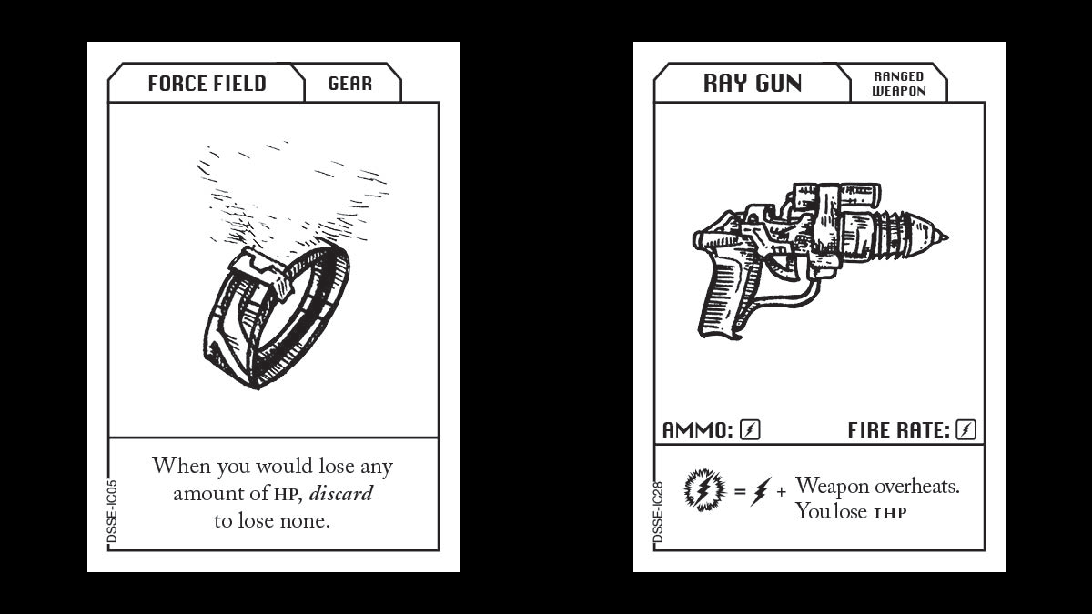 Escape the Dark Sector Item Cards Force Field and Ray Gun