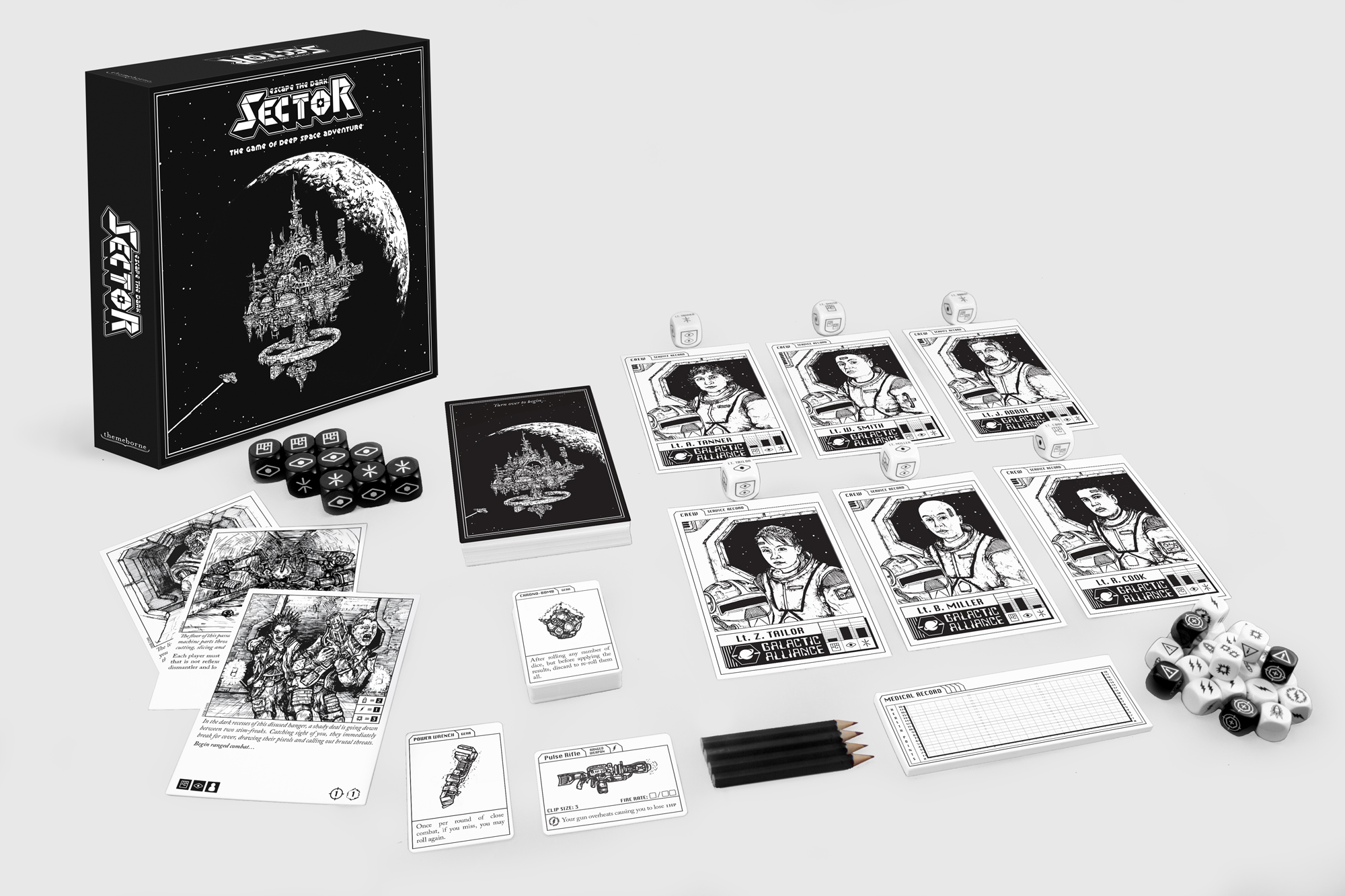Escape the Dark Sector game components