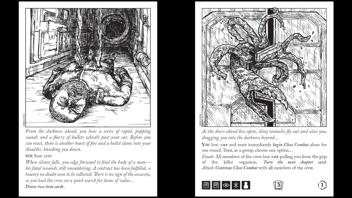 Escape the Dark Sector Turning Chapter Cards