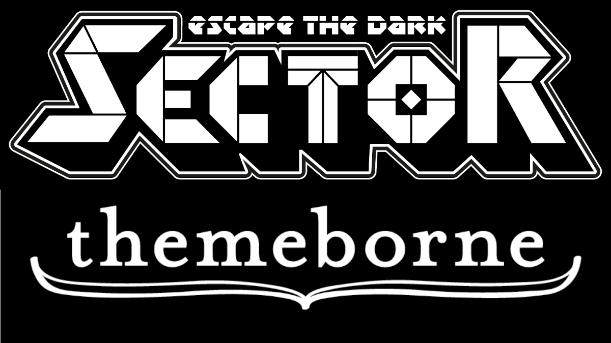 Escape the Dark Sector and Themeborne logos