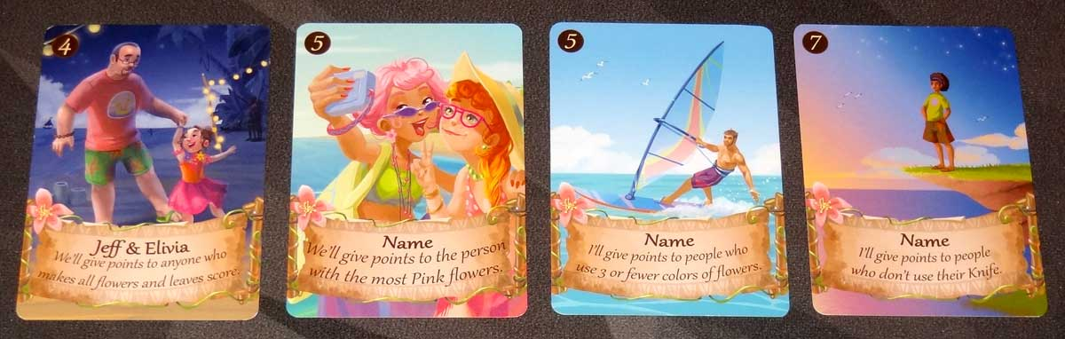 Lucky Luau character cards