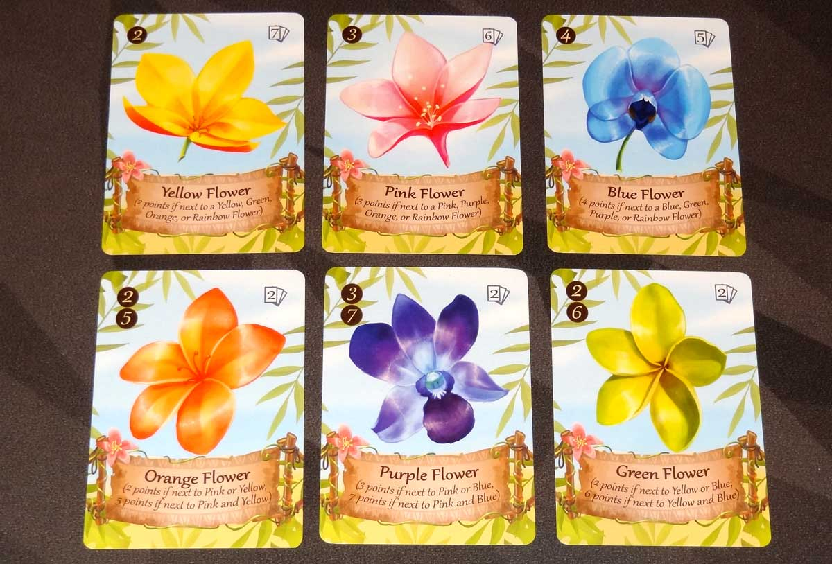 Lucky Luau flower cards