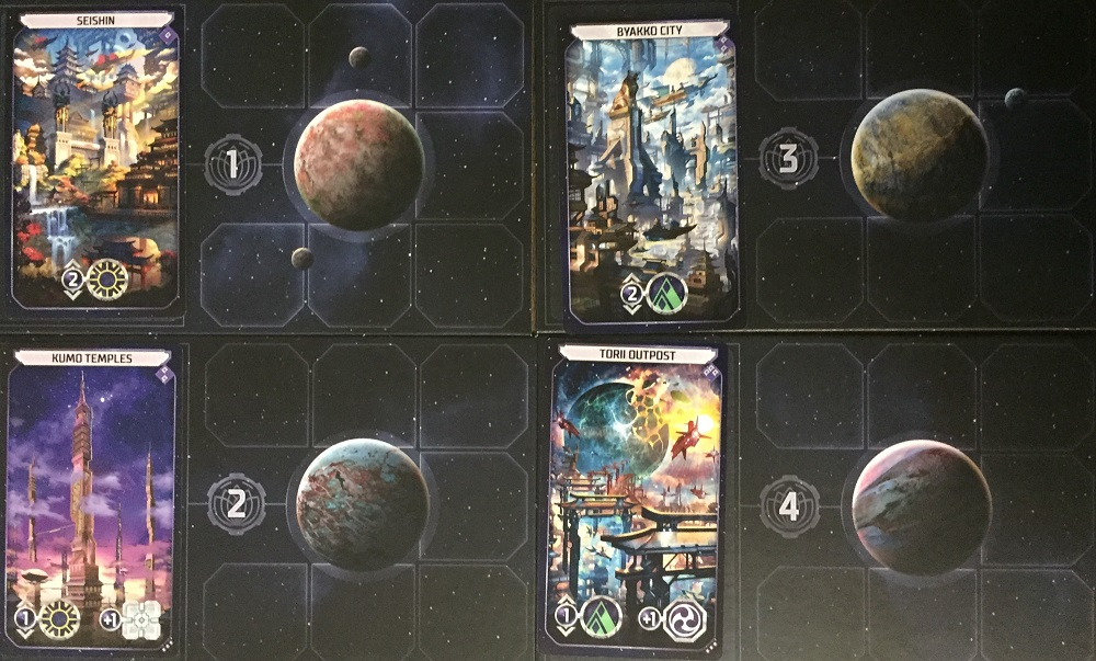 Location boards and location cards.