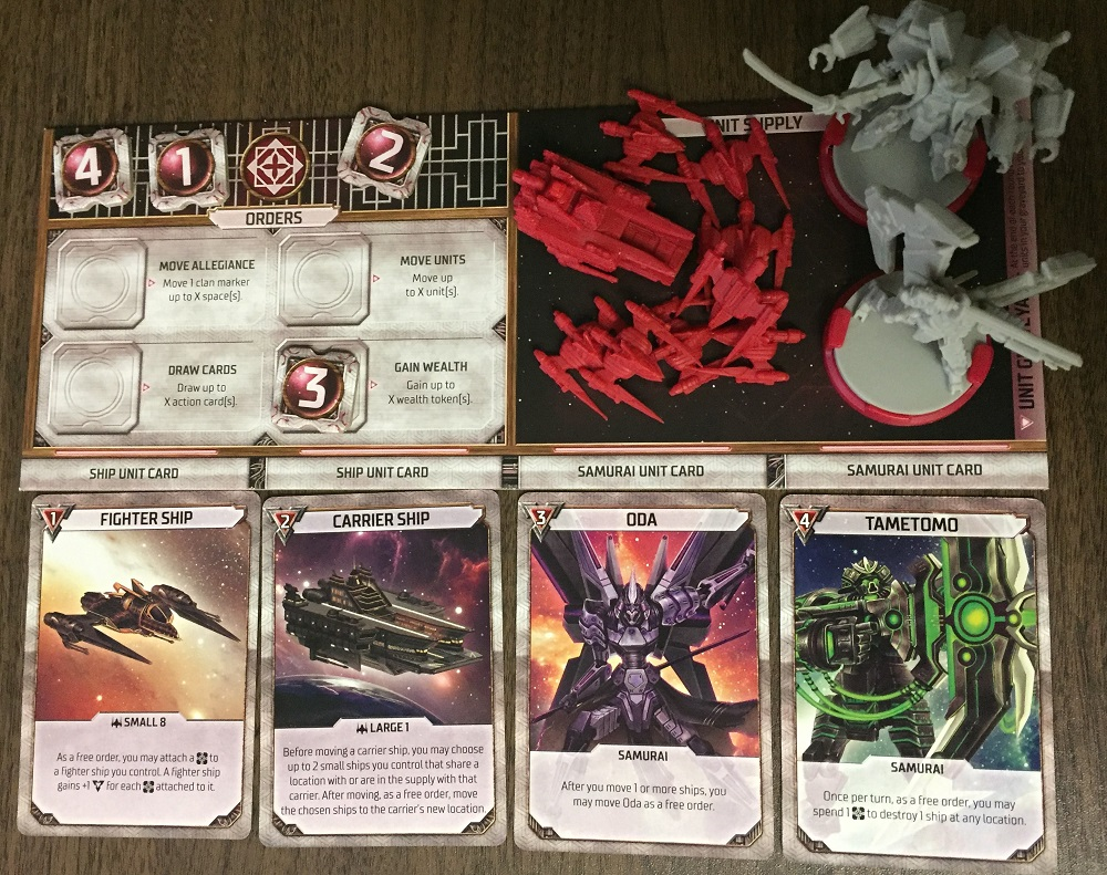 Player board with units