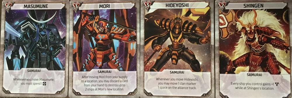 samurai mech cards