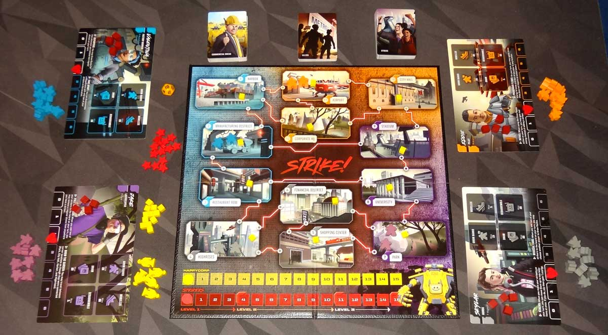 Strike! 4-player setup