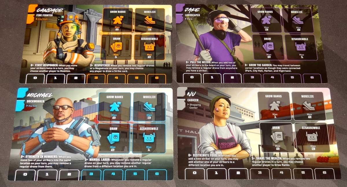 Strike! characters