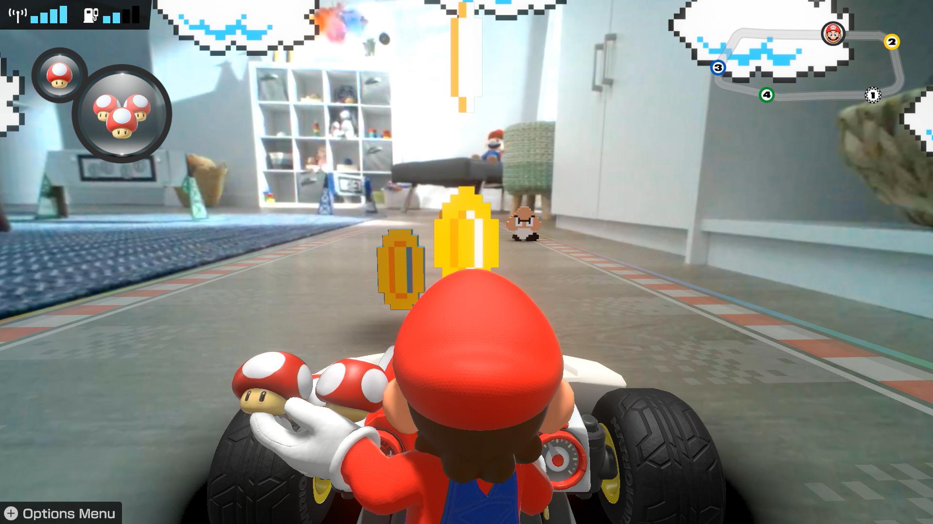 Mario Kart Live: Home Circuit 8-bit environment