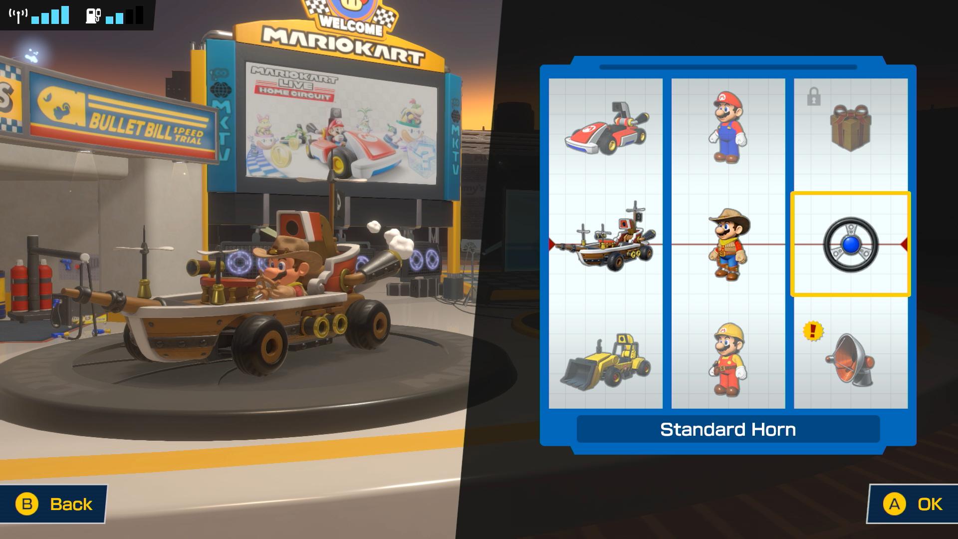 Mario Kart Live: Home Circuit kart customization