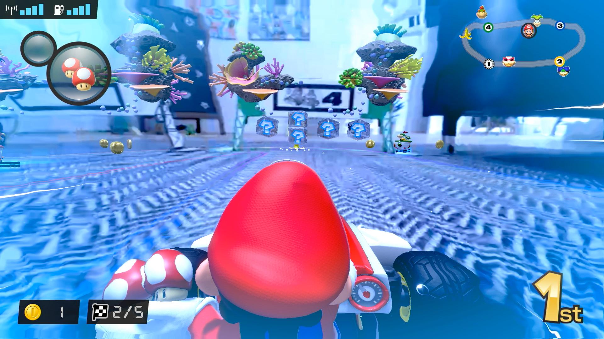 Mario Kart Live: Home Circuit underwater