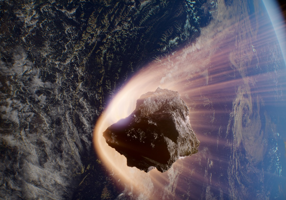 asteroid enters Earth's atmosphe
