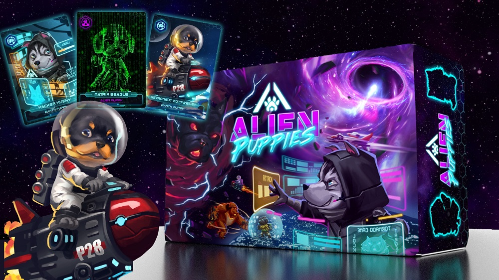 alien puppies box and artwork