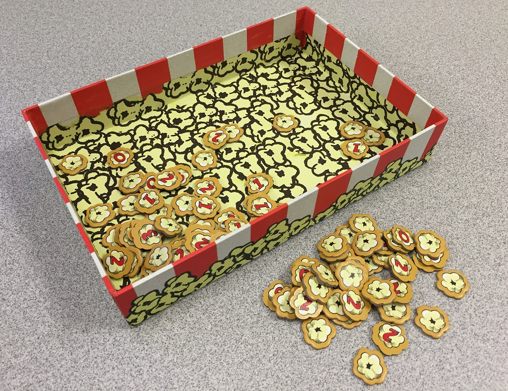 popcorn tokens and bucket