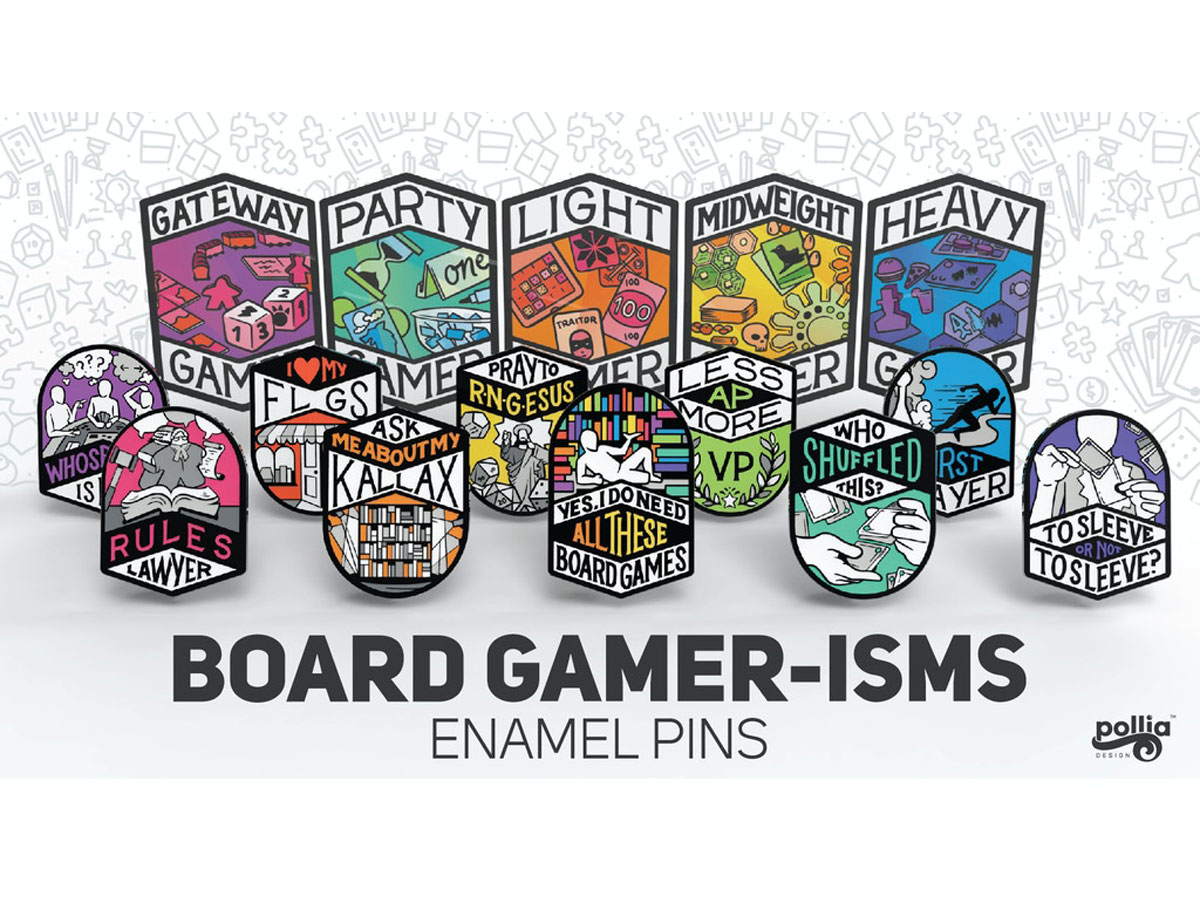 Board Gamer-isms Pins