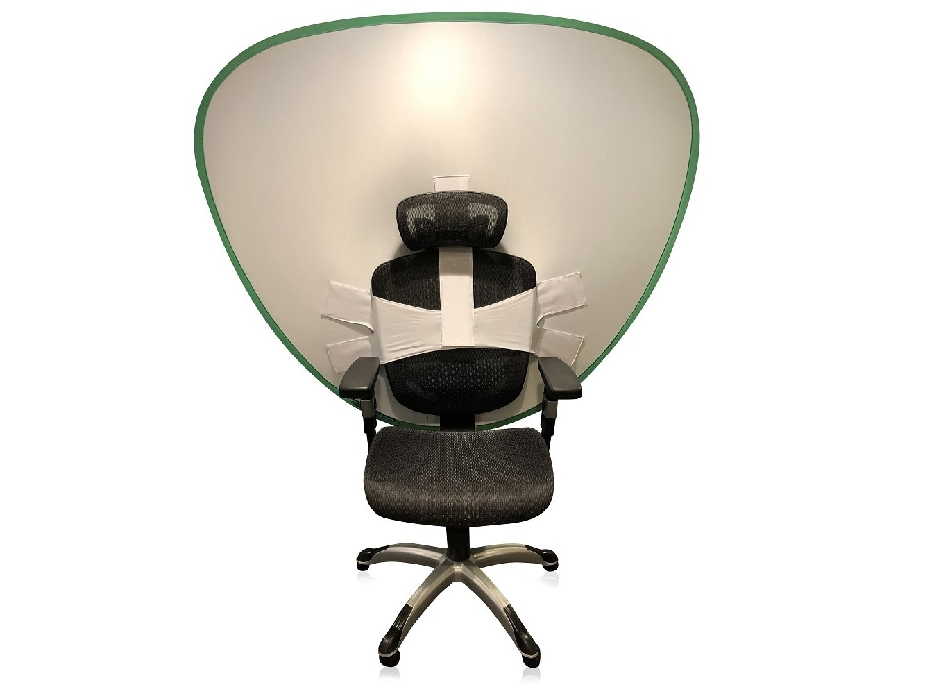 screen attached to a chair