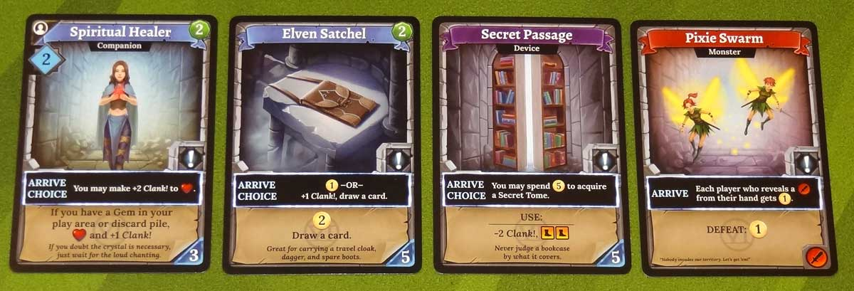 Clank! Adventuring Party Arrive Choice cards