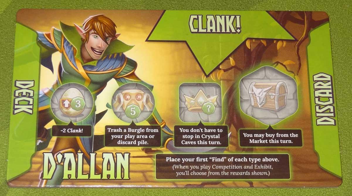 Clank! Adventuring Party D'allan