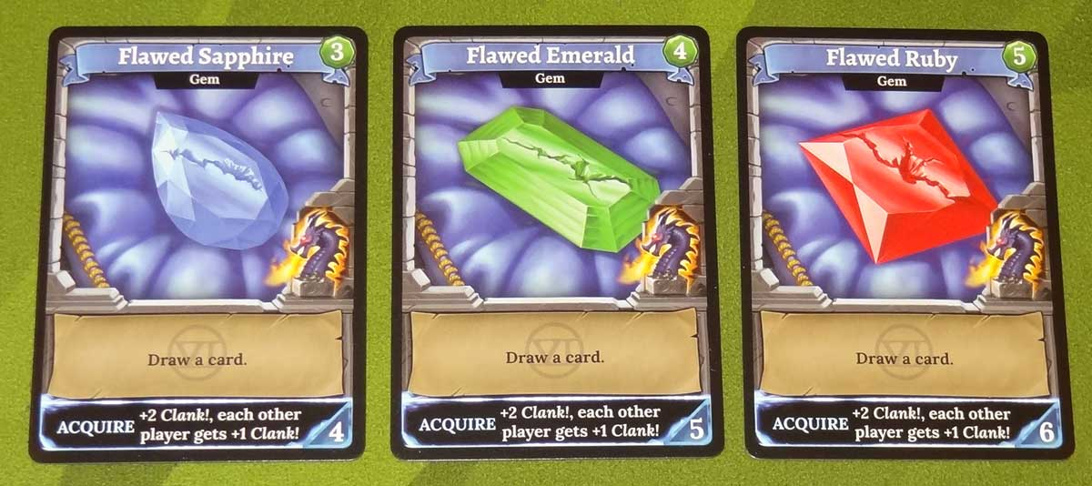 Clank! Adventuring Party flawed gem cards