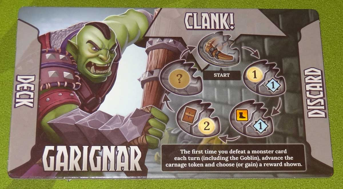 Clank! Adventuring Party Garignar