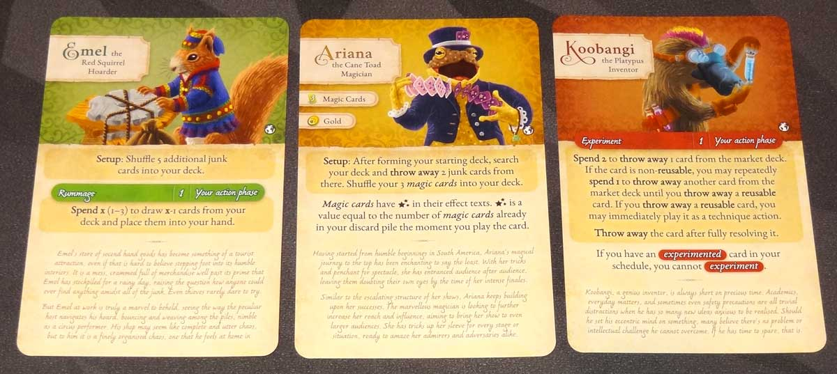 Dale of Merchants Collection character cards