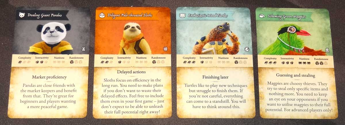 Dale of Merchants Collection deck selection cards