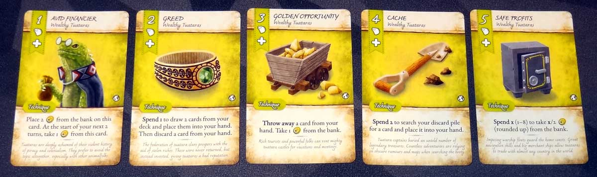 Dale of Merchants Collection Tuatara cards