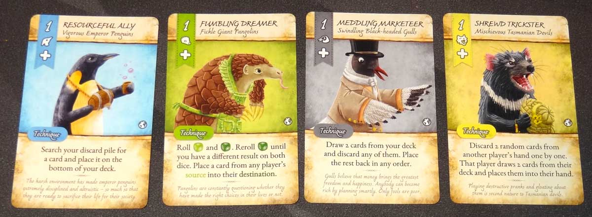 Dale of Merchants Collection four animalfolk cards