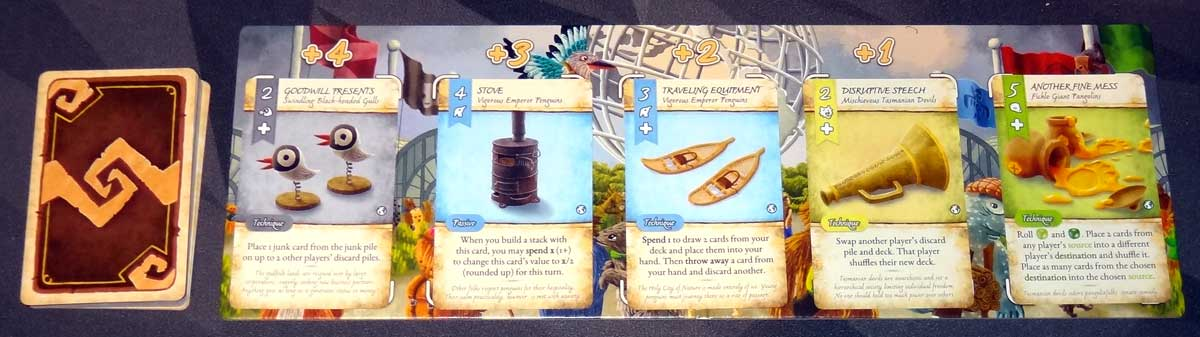 Dale of Merchants Collection market board with cards.