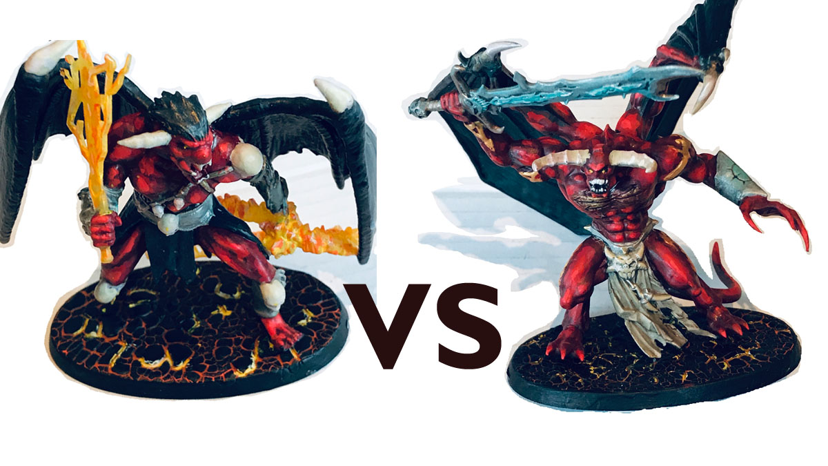 Geekdad paints demon vs demon