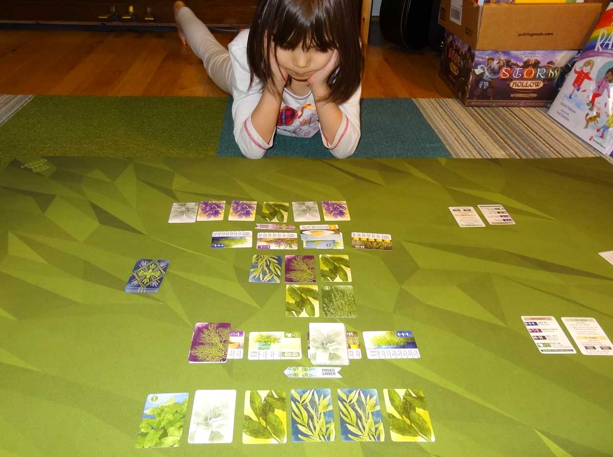 Daughter playing Herbaceous Pocket