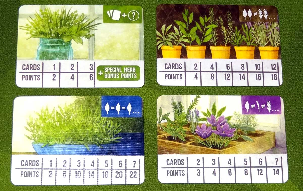 Herbaceous Pocket container cards.