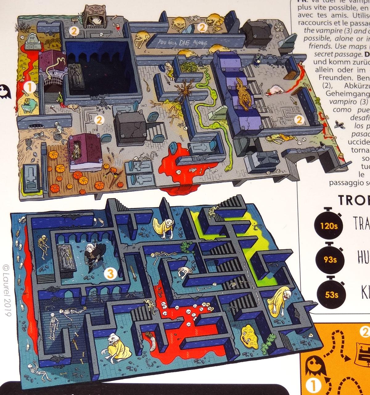 Legend: Crypt maze map