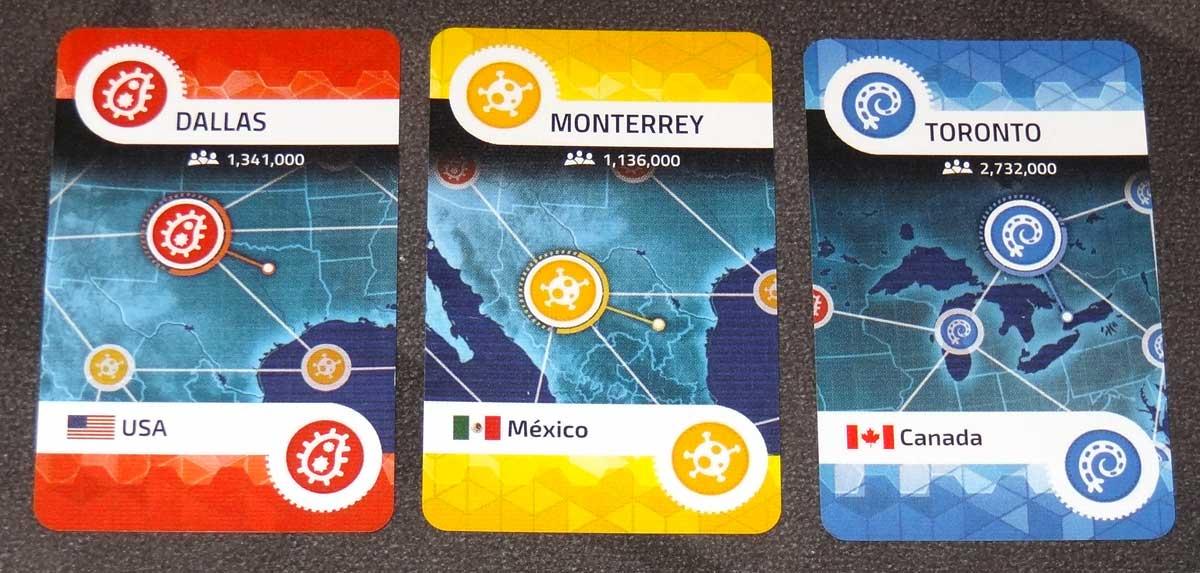 Pandemic: HotZone—North America city cards